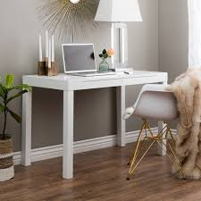 Contemporary Two-Drawer Student Desk in White - Free Shipping Today -  Overstock.com - 10761179
