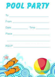 party invite templates free printable party invitations pool party invitations templates