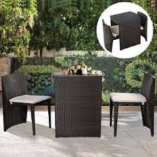furniture for small patio. small patio furniture set garden outdoor bistro wicker rattan table 2 chair for