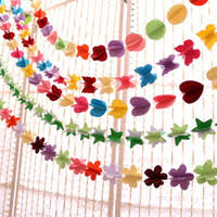 Paper Flower Garlands Wholesale Paper Flowers Garland Buy Cheap Paper Flowers