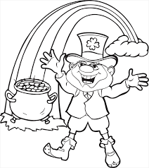 Small Picture Leprechaun Coloring Pages Dr Odd