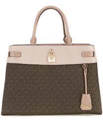 Dillards Designer Handbags On Sale Michael Michael Kors Gramercy Signature Snap Closure Large