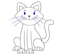 cat drawing step by step. Beautiful Cat How To Draw Simple Cat Step 19 To Cat Drawing By