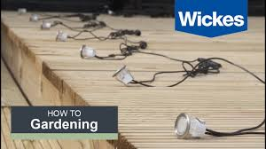 how to install deck lighting with wickes youtube Light Switch Wiring Diagram at How To Wire Plinth Lights Diagram