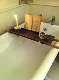 bathtub book holder wooden bath caddy diy ikea