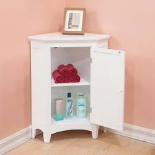 Classique White Corner Floor Cabinet by Essential Home Furnishings ...