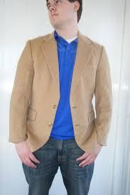 vtg men s ron chereskin camel hair sport coat blazer jacket satin lined hungary