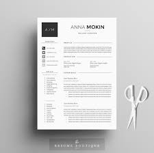 Free Modern Resume Templates Best of Professional Resume Template Cover Letter For MS Word Modern CV