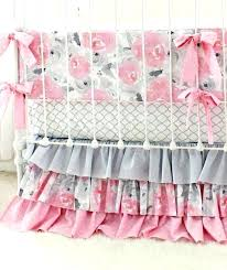 pink grey twin bedding fawn astounding gray baby set girls deer woodland nursery together with excelle