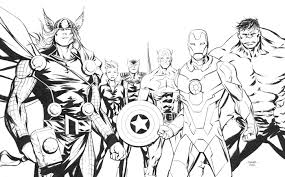 Fine Full Teamfrom The Gallery Avengers Coloring Pages