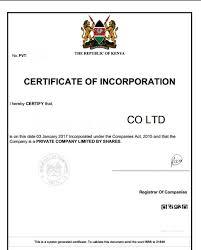 How To Register A Company Eregulations Kenya