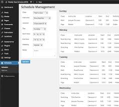 schedule weekly weekly class schedule wordpress plugins