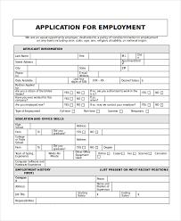 Generic Employment Application Form Generic Employment Application Template Business