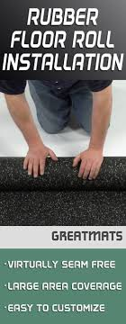 rubber flooring rolls are easy to install take at look at this quick tutorial from