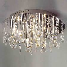 full size of living lovely crystal flush mount chandelier 0 0000503 14 miraggio modern round polished