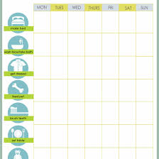 Chore Charts For Adults Printable Free Printable Weekly Chore Charts