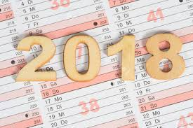 Calendar 217 A Calendar And The Year 2018 Stock Photo Picture And Royalty Free