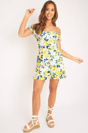 Blue Lemon Print Ruffle Summer Dress - Ashley – Rebellious Fashion