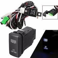 universal 40a 12v led light bar wiring harness relay switch for universal 40a 12v led light bar wiring harness relay switch for toyota off road atv (led light bar)