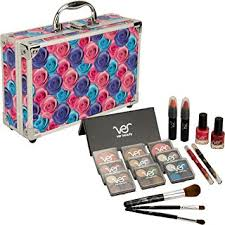 amazon s s starter makeup cosmetic kit set storage case 20 piece all in one beauty