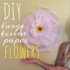 Large Tissue Paper Flower Diy Large Tissue Paper Flowers