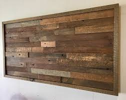 reclaimed barn wood wall art horizontal
