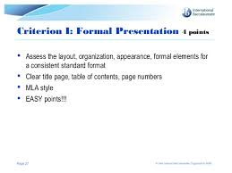 extended essay assessment criteria