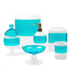 charming frosted glass bath accessories between the sheets of blue bathroom