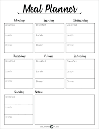 Food And Fluid Chart Template Info Intake Meal Plan Pla