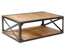 Coffee Table, Fascinating Brown And Black Rectangle Rustic Wood Metal  Coffee Table With Storage Ideas ...