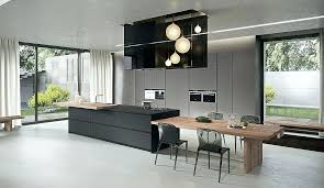 kitchen island that offers an extended dining table in wood sophisticated contemporary kitchens with cutting edge kitchen island dining table d48 table