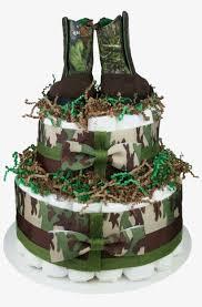 Green Camo Diaper Cake For Boys Birthday Cake Transparent Png