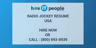 Radio Jockey Resume Hire It People We Get It Done