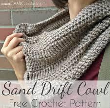 Cowl Crochet Pattern Impressive Crochet Cowl Pattern Sand Drift Cowl Crochet Infinity Scarf