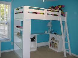 loft bed with shelves. Brilliant Loft A Loft Bed With A Desk And Bookcase To Loft Bed With Shelves E