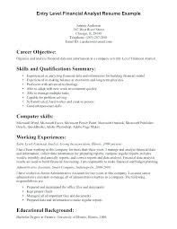 Entry Level Objective Resume Entry Level Resume Objective Examples
