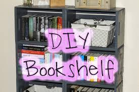 diy easy wooden crate bookshelf