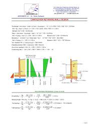 Small Picture SachpazisCANTILEVER RETAINING WALL Analysis DESIGN Example Accordi