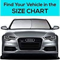 Sunshade Size Chart Ezyshade Windshield Sunshade Bonus Product Easy Read Size