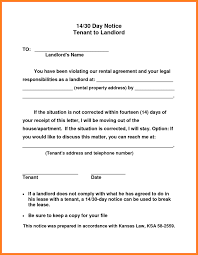 Tenant To Landlord 30 Day Notice Vacate Letter | Inviview.co