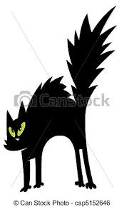 scared black cat clipart. Wonderful Clipart Black Cat Cartoon Charactrer  Csp5152646 With Scared Clipart L