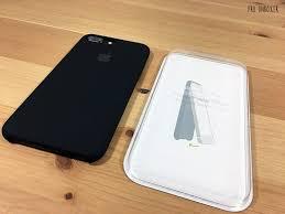 iphone 7 plus black unboxing. apple iphone 7 plus black silicone case on iphone unboxing h
