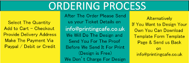 event tickets event tickets printing print event ticket uk design perforated scoring glued in the side 2 number in 2 section of the ticket 50 ticket in a book delivery uk