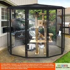 enclosed outdoor cat play area 8 diameter indoor outdoor cat cage