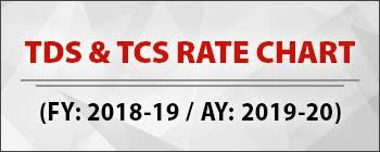 Tcs Rate Chart For Fy 2018 19 Tds Tcs Rate Chart
