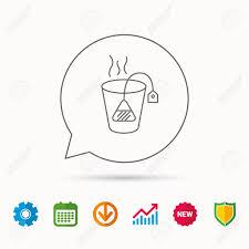 Tea Bag Icon Natural Hot Drink Sign Breakfast Beverage Symbol