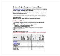 project management free templates project management plan template 9 free word pdf excel