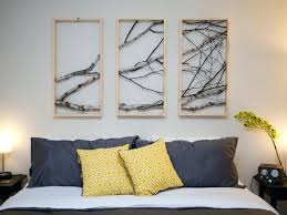 decorating with tree branches wall decor birch branch triptych tree branch diy tree branch wall decor