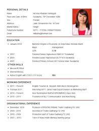 Sample Resume Format Fascinating Resume Format Examples Durunugrasgrup