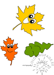 Happy Autumn Leaves | Coloring Page